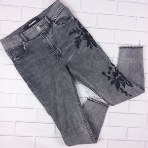 Express Ankle Legging High Rise Jeans Embroidery